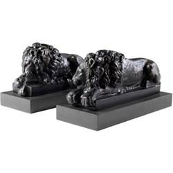 Pair of lion ornaments 32.5 x 16cm