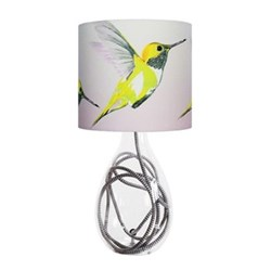 Lemon Hummer Small lamp, H45cm, grey zig zag flex