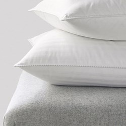 Goose Down Surround - Medium Firm Pillow, 50 x 75cm, white