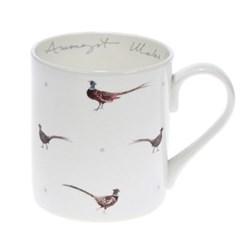 Pheasant - Amongst Males Mug, 9cm high