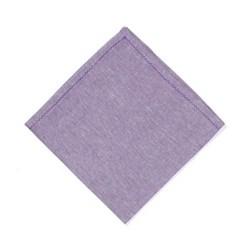 feather stitched linen Set of 4 napkins, 54 x 54cm, amethyst
