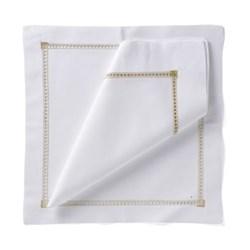 coloured hemstitch Set of 4 napkins, 54 x 54cm, gold