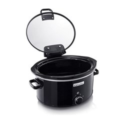 CSC031 Hinged lid slow cooker, 5.7 litre, black