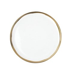 Dauville Set of 4 dinner plates, 26.6cm, gold glaze