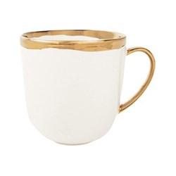 Dauville Set of 4 mugs, 9.5 x 12.7cm, gold glaze