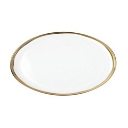 Dauville Small platter, 36.8 x 22.9cm, gold glaze