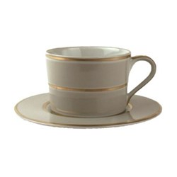 Set of 4 cups and saucers 8.9 x 6.4cm / 15.2cm