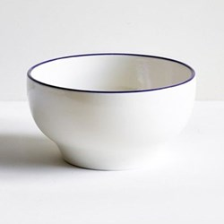 Classical Cobalt Blue Line Simple bowl, 15cm