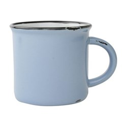 Tinware Set of 4 mugs, 10.2 x 9.5cm, cashmere blue