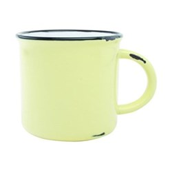 Tinware Set of 4 mugs, 10.2 x 9.5cm, yellow