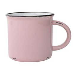 Tinware Set of 4 mugs, 10.2 x 9.5cm, pink
