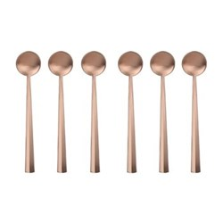 Nagasaki Set of 6 coffee spoons, matte copper