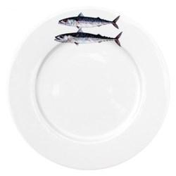 Mackerel Flat rimmed plate, 26cm