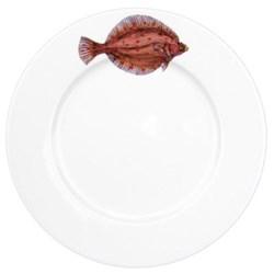 Plaice Flat rimmed plate, 26cm