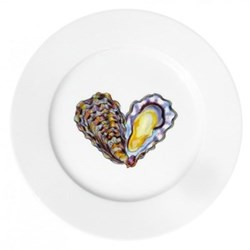 Oyster Flat rimmed plate, 19cm