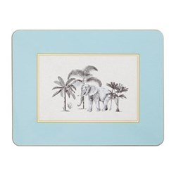 Harlequin Design Extra large serving mats, 38.2 x 29.2cm, blue with gold edge