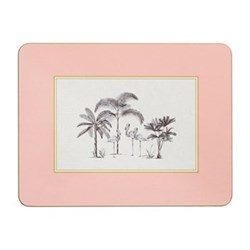Harlequin Design Extra large serving mats, 38.2 x 29.2cm, pink with gold edge