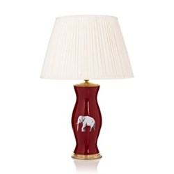 The Elephant in the Room Lamp base, 33 x 15cm, red