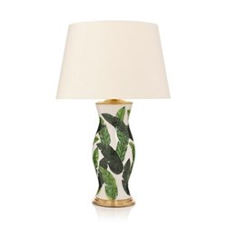 Palm Beach Lamp with plain shade, 41 x 61cm