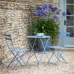 Garden table with 2 chairs table H71 x D58cm; chair H78 x W50 x D42cm