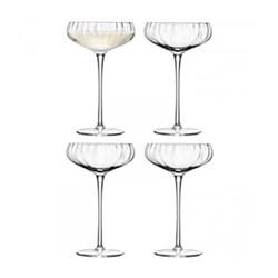 Aurelia Set of 4 Champagne saucers, 30cl, clear optic