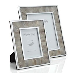 Feather and Glass Photograph frame, 8 x 10'', duck