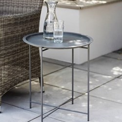 Rive Droit Bistro tray table, H52 x D46cm, charcoal steel