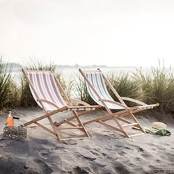 Rocking deck chair H86 x W56 x D90cm