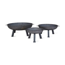 Foscot Small fire pit, H34.5 x W55 x D55cm, raw steel