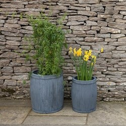 Pair of planters - small & large 41 x 32 & 48 x 40.5cm