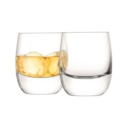 Bar Pair of whiskey tumblers, 27.5cl, clear
