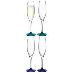 Set of 4 champagne flutes 25cl