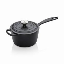 Signature Cast Iron Saucepan, 16cm, satin black