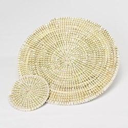 Coaster, 10cm, white