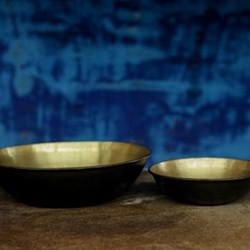 Kadova Bowl, 10 x 40cm, antique brass