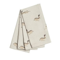 Hare Set of 4 napkins, 41 x 41cm
