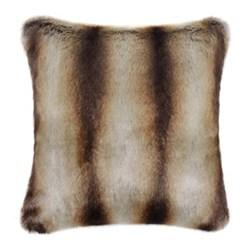 Classic Collection Cushion, 60 x 60cm, brown chinchilla