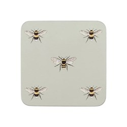 Bees Set of 4 coasters, 10.5 x 10.5cm