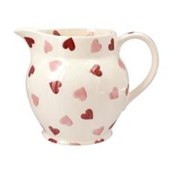 Pink Hearts Jug, 1.5 pint
