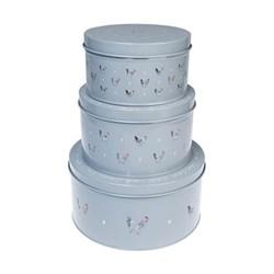 Set of 3 cake tins 18 x 10cm / 20.5 x 12cm / 25.5 x 13cm