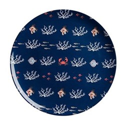 Set of 4 melamine dinner plates 25.4cm
