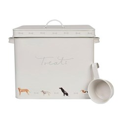 Woof! Pet tin, 33 x 27.3 x 22cm, galvanised steel, scoop included