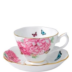 Miranda Kerr Friendship Teacup and saucer, 40cl, white with pink