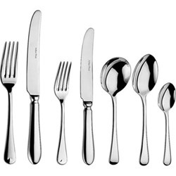 Old English 44 piece cutlery set with canteen, stainless steel