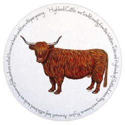 Highland Cow Tablemat, 28cm