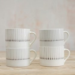 Set of 4 mugs 7 x 10cm
