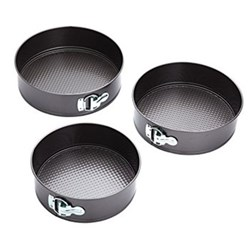 Set of 3 springform cake tins