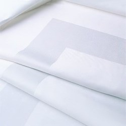 Satin Band Tablecloth, 183 x 229cm, off white double damask