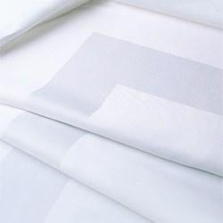 Satin Band Tablecloth, 137 x 137cm, off white single damask