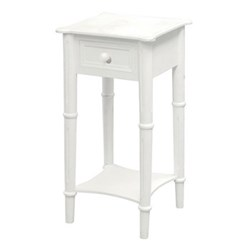 Belgravia Bedside table with drawer, 70 x 36 x 36cm, white